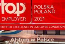 Alstom wyróżniony certyfikatem Top Employer 2021 w Polsce