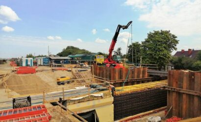 Trwa budowa przystanku Białystok Zielone Wzgórza