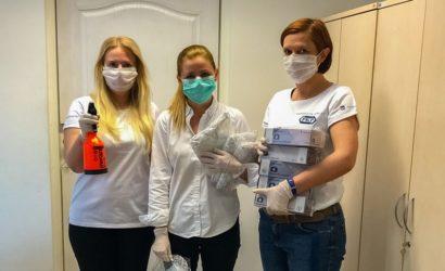 Kolejarze pomagają walczyć z koronawirusem
