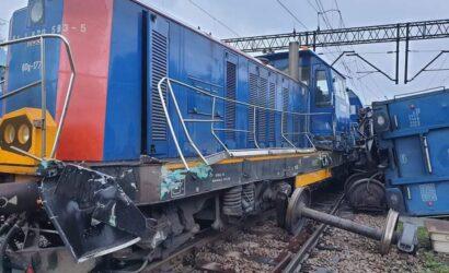 W Dąbrowie Górniczej zderzyły się dwa pociągi
