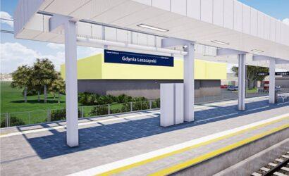 Trzy oferty na modernizację przystanku SKM Gdynia Leszczynki [WIZUALIZACJE]