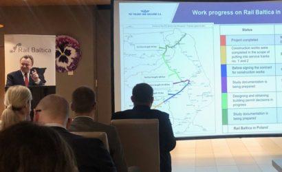 I. Merchel: zrealizowaliśmy 1/3 długości linii Rail Baltica w Polsce