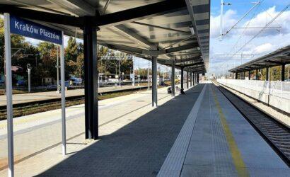 Pasażerowie na stacji Kraków Płaszów korzystają z dwóch nowych peronów