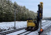 Trwają prace modernizacyjne na odcinku Rusiec Łódzki – Kozuby