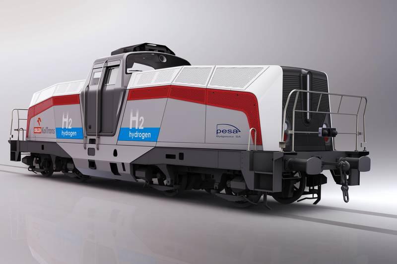 Pesa pokazała jak będzie wyglądała lokomotywa wodorowa dla Orlen Koltrans