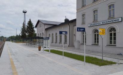 Na stacji Wałbrzych Szczawienko podróżni skorzystają z przebudowanego peronu