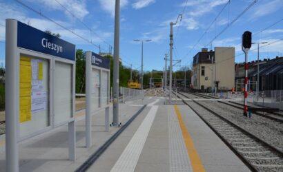 Na stacji w Cieszynie przebudowano i podwyższono perony