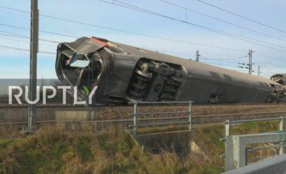 Włochy: katastrofa kolejowa pod Mediolanem