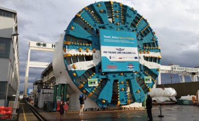 Największa tarcza do drążenia tuneli kolejowych przyjedzie do Łodzi