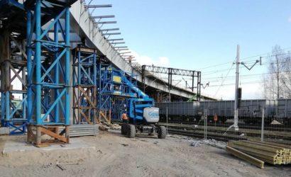 Trwa budowa wiaduktu w Sokółce