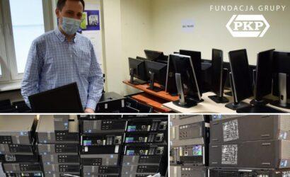 Fundacja Grupy PKP i PKP Energetyka przekazały GIS sprzęt komputerowy
