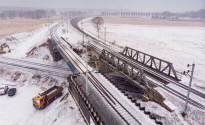 Pociągi jeżdżą już bajpasem niedaleko Krzyża Wlkp.