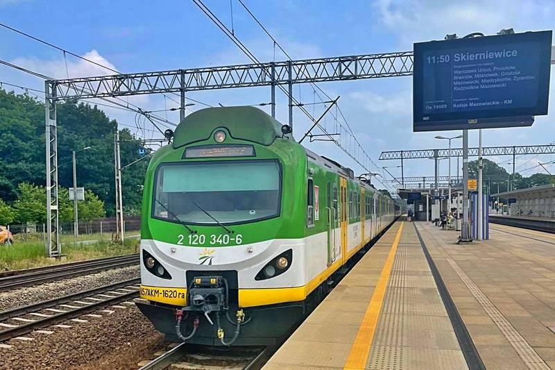 4 miliony pociągów Kolei Mazowieckich