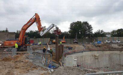 W Łodzi trwa budowa komór startowych dla tarcz TBM [galeria]