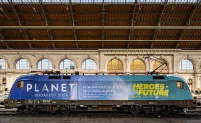Zaprezentowano lokomotywę promującą Planet Budapest 2021