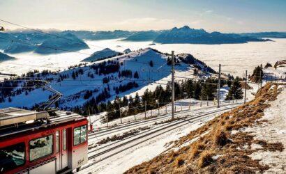 Szwajcaria: zębatka nad Jeziorem Czterech Kantonów [GALERIA]