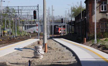 Dodatkowe prace na stacji Poznań Główny zaawansowane w 60%