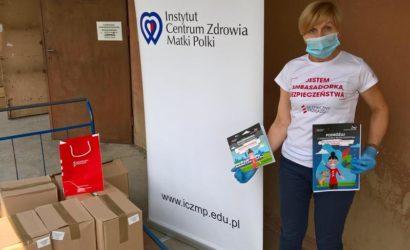 """Materiały edukacyjne kampanii """"Bezpieczny przejazd"""" pomogą dzieciom w szpitalach przetrwać czas epidemii"""