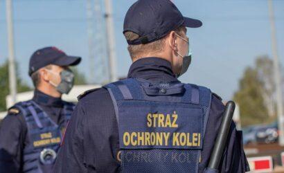Funkcjonariusze SOK zatrzymali dwóch chłopców którzy układali przeszkody na torach