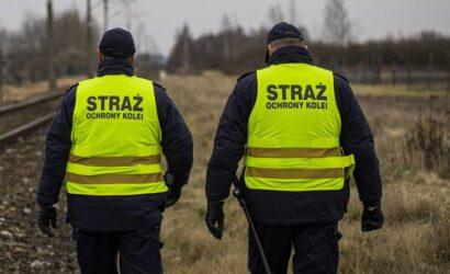 Funkcjonariusze SOK zatrzymali chłopców układających kamienie na szynach