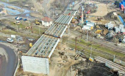 Gdańsk: widać już konstrukcję wiaduktu drogowego w ciągu ul. Ku Ujściu [GALERIA]