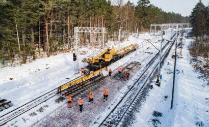Ułożono już 26 km nowych torów do portów w Szczecinie i Świnoujściu [GALERIA]